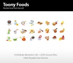 Image for Image for Toony Food Icons - 30260