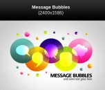 Image for Image for Message Bubbles Vector - 30524